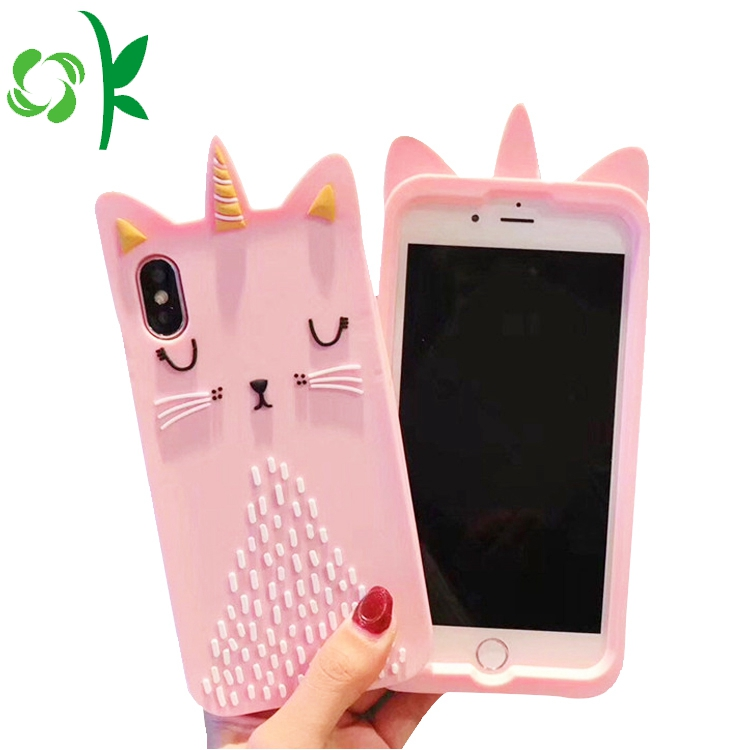 Pink Silicone Mobile Cover
