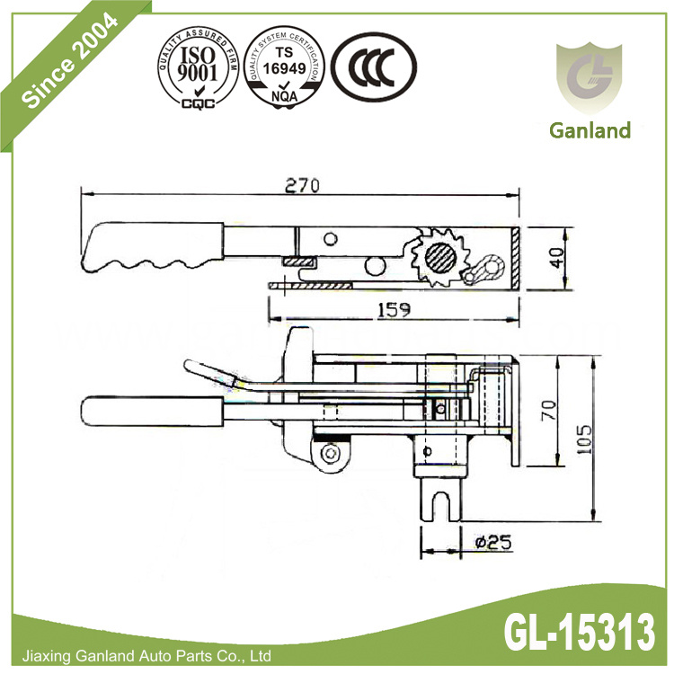 Off Side Rear Tensioner gl-15313