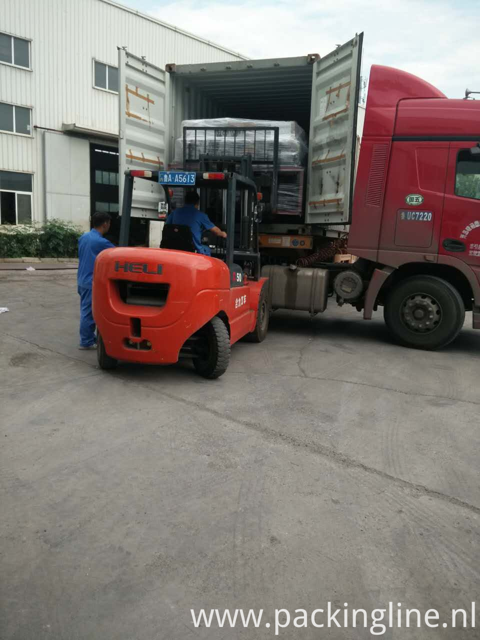 Autoamtic Pallet Wrapper loading