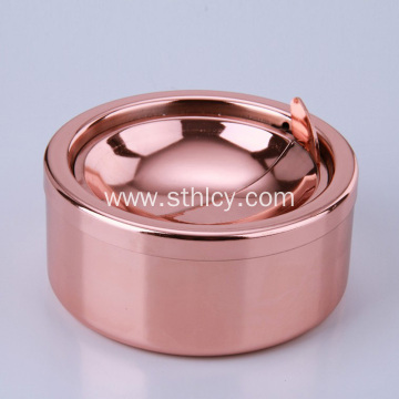 Pandekorasyon Metal Coating Ashtray hindi kinakalawang na asero Ashtray