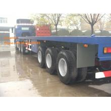 Flat-bed Semi Trailer Truck 3 Axles 30-60Tons