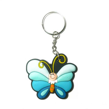 Silicone Key Cover High Quality Butterfly Soft PVC Keychain