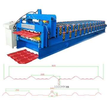 Steel tile double layer roof roll forming machine