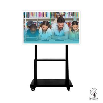 55 Inches UHD Multi-touch Screen with mobile stand