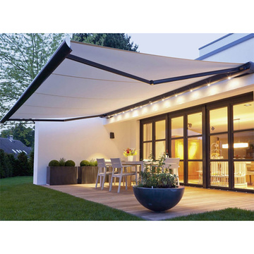 manual retractable awning and kit