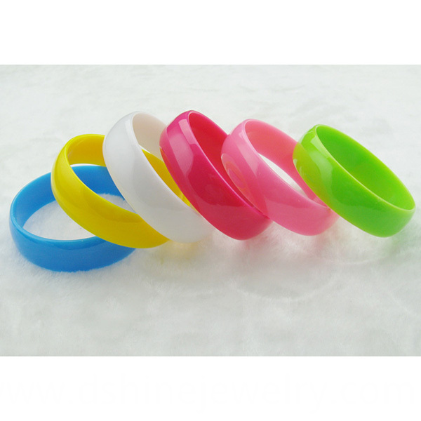 Multi Neon Colors Plastic Bangle