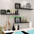 Set Of 6 Floating Wall Mounted Shelves Display Storage Shelf Home Decoration
