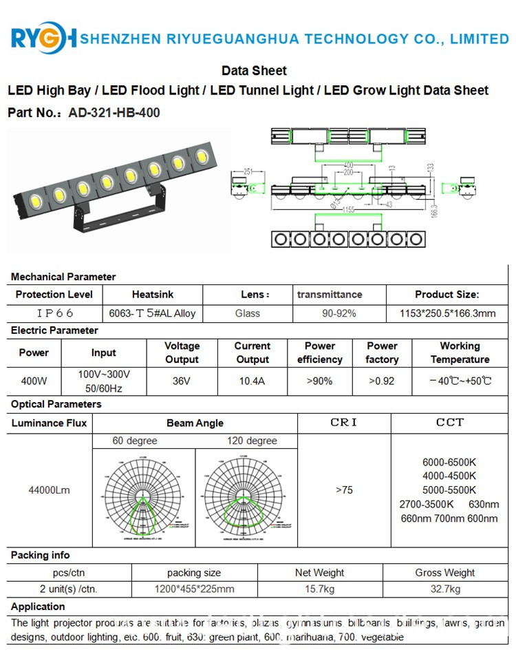 flood LED light400W