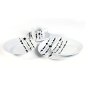 20 Piece Decal Porcelain Dinner Set with dots