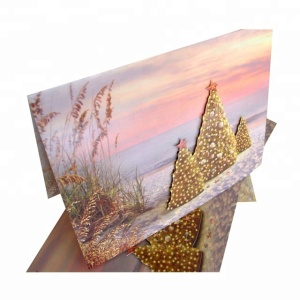 Luxury Glitter Popup Foil Recordable Greeting Card