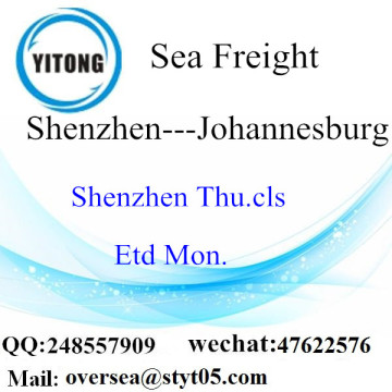 Shenzhen Port LCL Consolidation To Johannesburg
