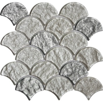 Special fan-shaped design glass mosaic