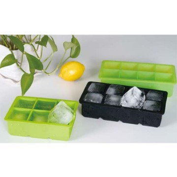 20 Years Factory for 8 Cavity Silicone Ice Cube Trays,Big Ice Cube Molds,Large Ice Cube Tray 8 cavity 2*2inch Colorful silicone ice cube tray supply to Malaysia Exporter