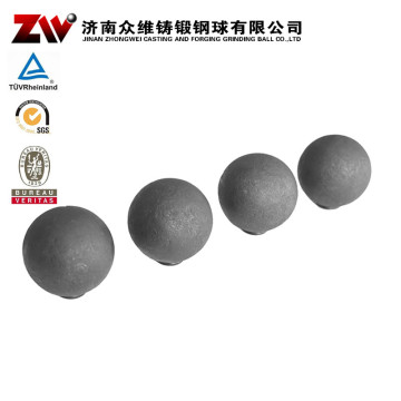 Hot rolling Forged grinding balls for cement 60mm