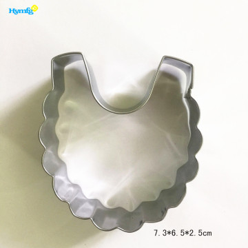 Bulk Metal Baby Bib Cookie Cutter Mold