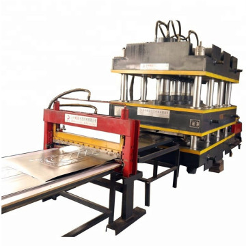 Door plate pressing machine