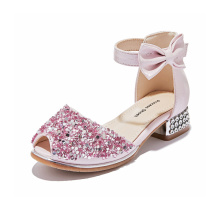 Children Fish Mouth Rhinestone Bowknot Sandals