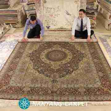 8'x10' Handmade Traditional Qum Iran Carpet