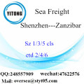 Shenzhen Port LCL Consolidation To Zanzibar