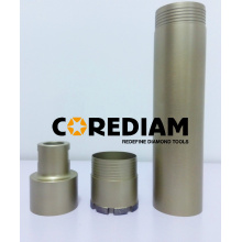 Three-piece Diamond Core Drill Bit
