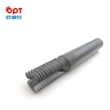 PCD diamond thread milling cutter round with carve