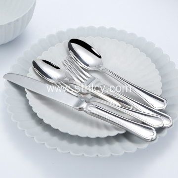 Stainless Steel Hotel Flatware Set Spoon Fork Knife