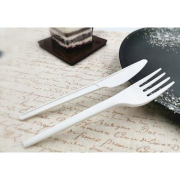 Eco-friendly PLA Compostable Cutlery Fork Spoon Knife Sets