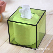 Hot Acrylic Facial Napkin Rings Lucite Tissue Holder