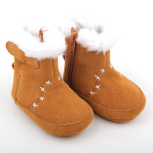 Brown Winter Warm Boy Girl Shoe