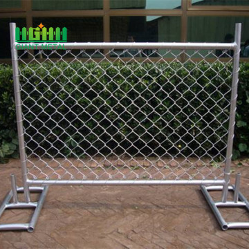 Galvanised temporary fence brace