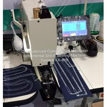 Computerized cylinder bed moccasin ornamental stitch sewing machine FOXSEW FX-81D