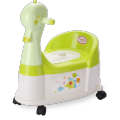 Duck Filastik Baby Potty kujera Tare da Wheel