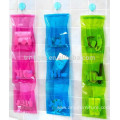 3 Tier Bathroom clear Hanging Organizer Waterproof pvc Pouch Bag