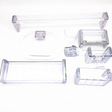 White Ceramic Acrylic Hotel Bathroom Accessories Set