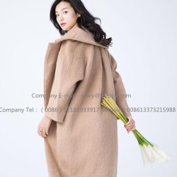 Cashmere Coat With Mohair For Women