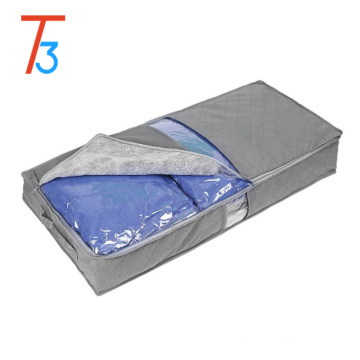 foldable storage box/fabric zipper bag/underbed quilt storage box