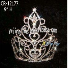 New fashion cute tiara pageant valentine crown