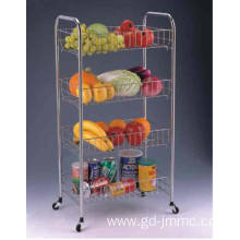 Good Quality for Storage Cart 4-Tier Rolling Storage Rack supply to Portugal Manufacturer