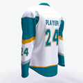 Small moq and high quality 100% polyester hockey jersey fabric oversized for adults