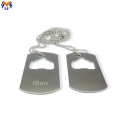 Metal bottle opener custom shape dog tag