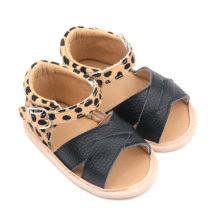 Leather Toddler Leopard Baby Boy Girl Sandals