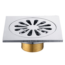Brass Chrome Bathroom Floor Drain