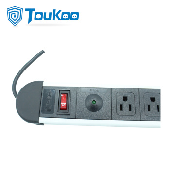 4 way surge protector power strip with USB