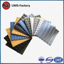 External floor tile for subway tactile paving