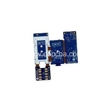 4Layers Blue Solder Mask Rigid Flex PCB Board