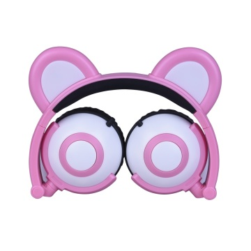 LED Panda Ear Headphone Bass Music for Call