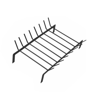 bbq grill rack with 8rods lacquered steel black