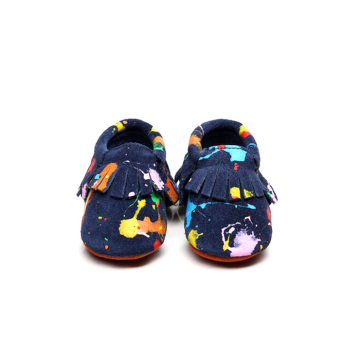 Pretty Fancy Doodle Moccasins Baby Shoes