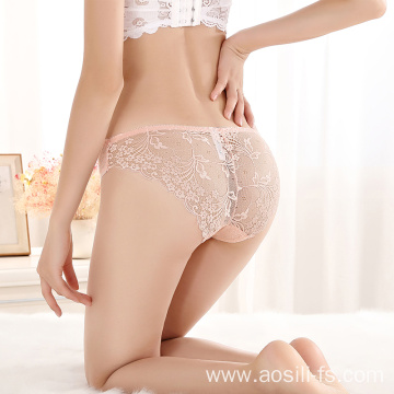 Sexy romantic flower model lingerie underwear panty