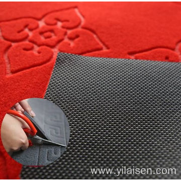 Hotel embossed mat heat resistant floor entry carpet